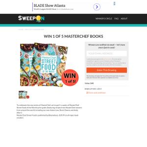 Win 1 of 5 'Masterchef' books!