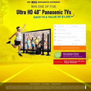 Win 1 of 5 Panasonic Televisions!
