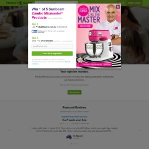 Win 1 of 5 Sunbeam Zumbo Mixmaster products!