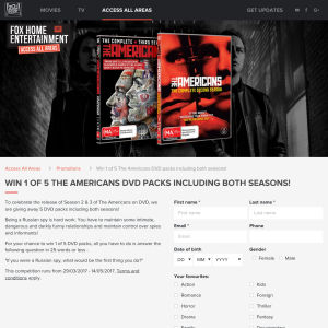 Win 1 of 5 'The Americans' DVD packs!