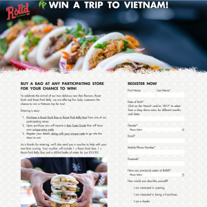Win 1 of 5 trips for 2 to Vietnam! (Purchase Required - Excludes TAS & NT Residents)