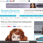 Win 1 of 5 ultimate hair styling packs!