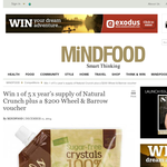 Win 1 of 5 x year's supply of 'Natural Crunch' plus a $200 'Wheel & Barrow' voucher!