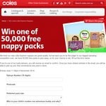 Win 1 of 50,000 free nappy packs!