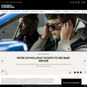 Win 1 of 50 Baby Driver double passes
