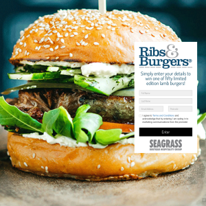 Win 1 of 50 limited edition lamb burgers!