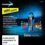 Win 1 of 500 pwerade sports bottles daily