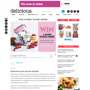 Win 1 of 6 SMEG Stand Mixers