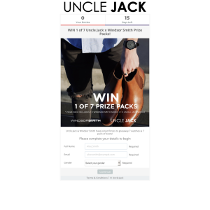 Win 1 of 7 Uncle Jack x Windsor Smith Prize Packs