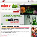 Win 1 of 75 family passes to see Disney's 'The Muppets Most Wanted'!