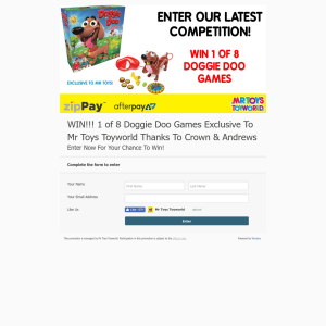 Win 1 Of 8 Doggie Doo Games