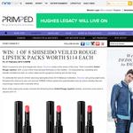 Win 1 of 8 Shiseido Veiled Rouge Lipstick packs worth $114 each!