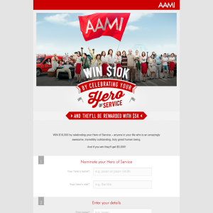 WIN $10,000 cash with AAMI