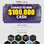 Win $100,000 cash!
