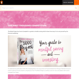Win $1000 + Consult with Cana Campbell