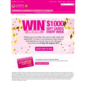 Win $1000 Gift Card per week