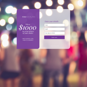 Win $1000 in Event Tickets of your Choice!