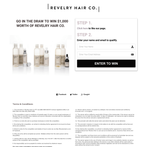Win $1000 Worth of Revelry Hair Co Hair Care