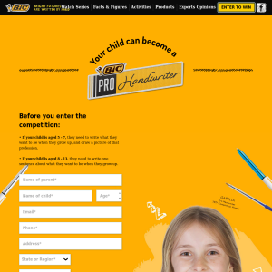 Win $1800 in cash to go towards tuition and $200 RRP worth of BIC stationery