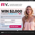 Win $2,000 to spend on SurfStitch.com + RY!