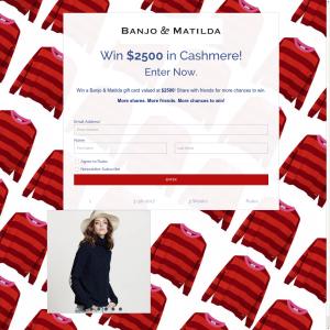 Win $2,500 in cashmere!