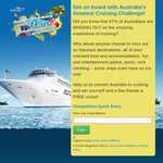 Win 2 cabins on a luxury 3 night cruise!