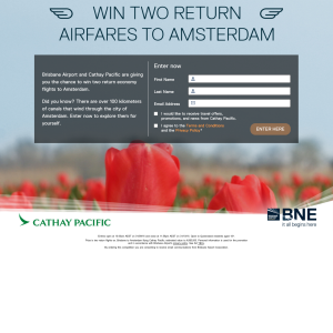 Win 2 return airfares to Amsterdam!