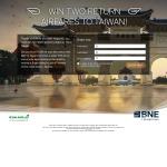Win 2 return airfares to Taiwan!
