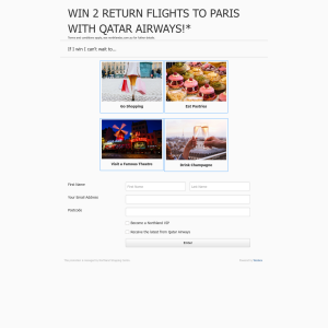 Win 2 Return Flights to Paris with Qatar Airways