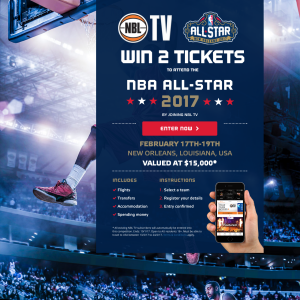 Win 2 tickets to attend the NBA All-Star 2017!