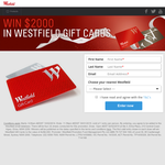 Win $2000 in Westfield Gift Cards