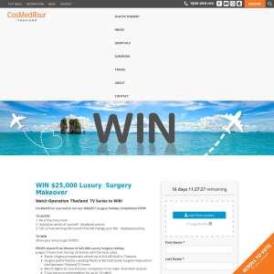 Win $25,000 Luxury  Surgery Makeover