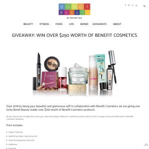 Win $250 worth of Benefit cosmetics