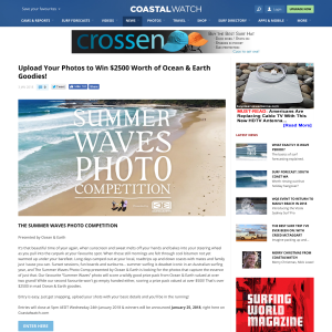 Win $2500 Worth of Ocean & Earth Goodies