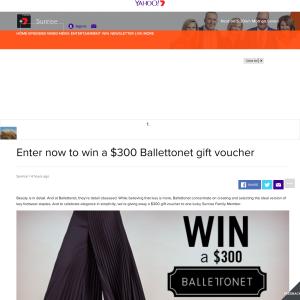 Win $300 Ballettonet voucher