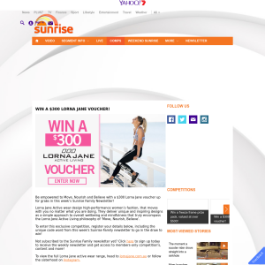 Win $300 Lorna Jane voucher