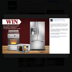 Win $5,000 to choose whichever kitchen goods you want from Harvey Norman or win 1 of 10 pizzeria at home packs worth $300!