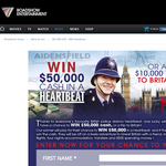 Win $50,000 cash or a $10,000 trip to Britain