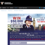 Win $50,000 cash or a trip to Britain!