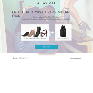 Win $500 to spend at Alias Mae + a George leather backpack! (Excludes NSW Residents)