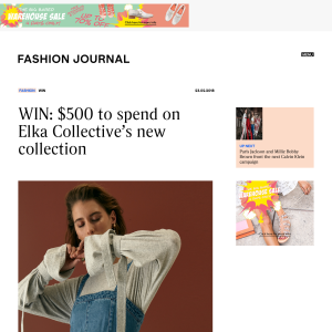 Win $500 to spend on Elka Collective's new collection