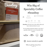 Win 8kg of specialty coffee!