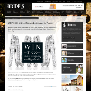 Win a $1,000 'Andrew Mazzone Design Jeweller' voucher!