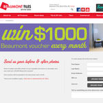 Win a $1,000 Beaumont voucher every month!