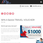 Win a $1,000 iFly travel voucher!