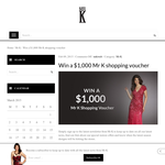 Win a $1,000 'MR K' shopping spree!