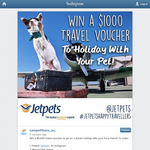 Win a $1,000 travel voucher to go on a dream holiday with your furry friend!