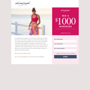 Win a $1,000 wardrobe!