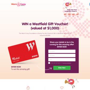 Win a $1,000 Westfield Gift Voucher