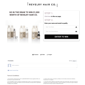 Win a $1,000 worth of 'Revelry Hair Co.'!
